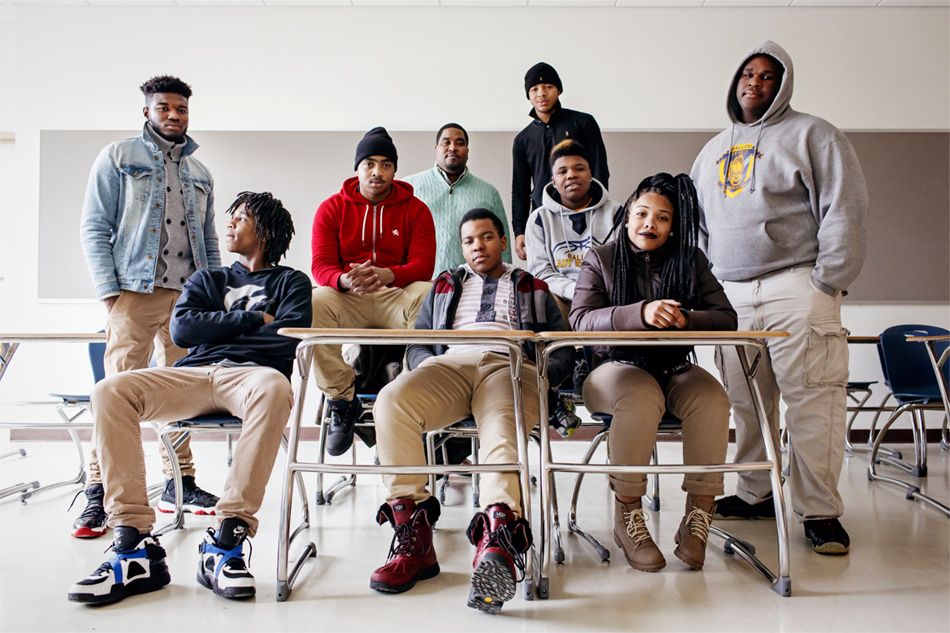 at Ballou High School in Washington, D.C. on Monday, January 26, 2015.